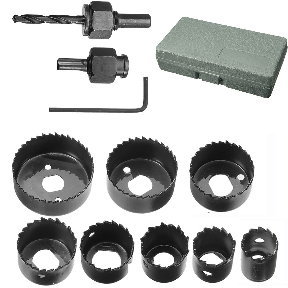 Hole Saw Set, Drillpro 11 PCS Hole Saw Kit 3/4'' - 2 1/2 ''inch for Woodworking