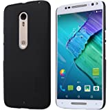 Moto X Pure Edition Case ,Leegu(TM) Frosted Hard Case Cover with HD Screen Protector for Moto X Pure Edition / Motorola Moto X Style (Frosted Black)