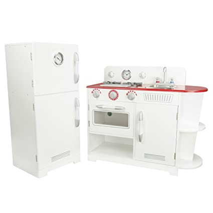 Teamson Kids Classic Play Kitchen   White (2 Pieces)