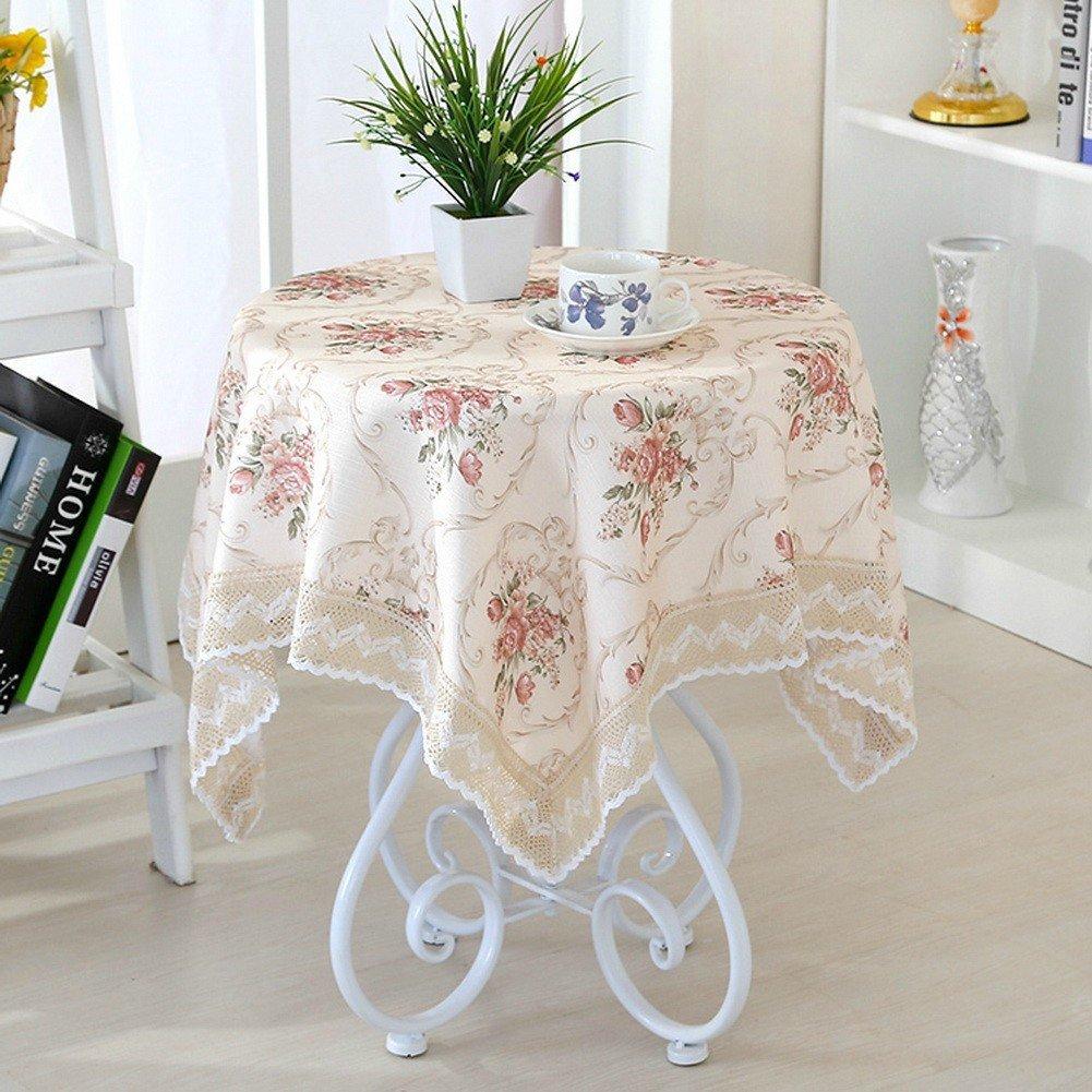 英国スタイル 花テーブルクロス ティーテーブル 円形 レース テーブルクロス 180CM シャンパン 円形 180 X 180 cm シャンパン B01ABRBCDU
