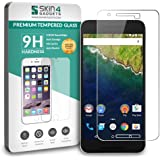 Nexus 6P Tempered Glass Screen Guard Protector Ultra Strong (9H)-Slim by Skin4Gadgets with Gift Card of Rs.200.