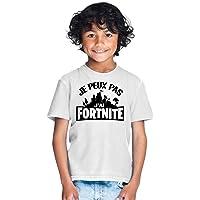 Mobilinnov Tshirt Je Peux Pas J'Ai fortnite Garcon Et Fille Unisex Tee pour enfant Gamer Geek Jeux