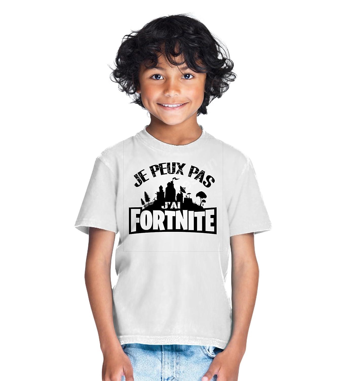 Tshirt Je Peux Pas J'Ai fortnite Garcon et Fille Unisex Tee pour Enfant Gamer Geek Jeux