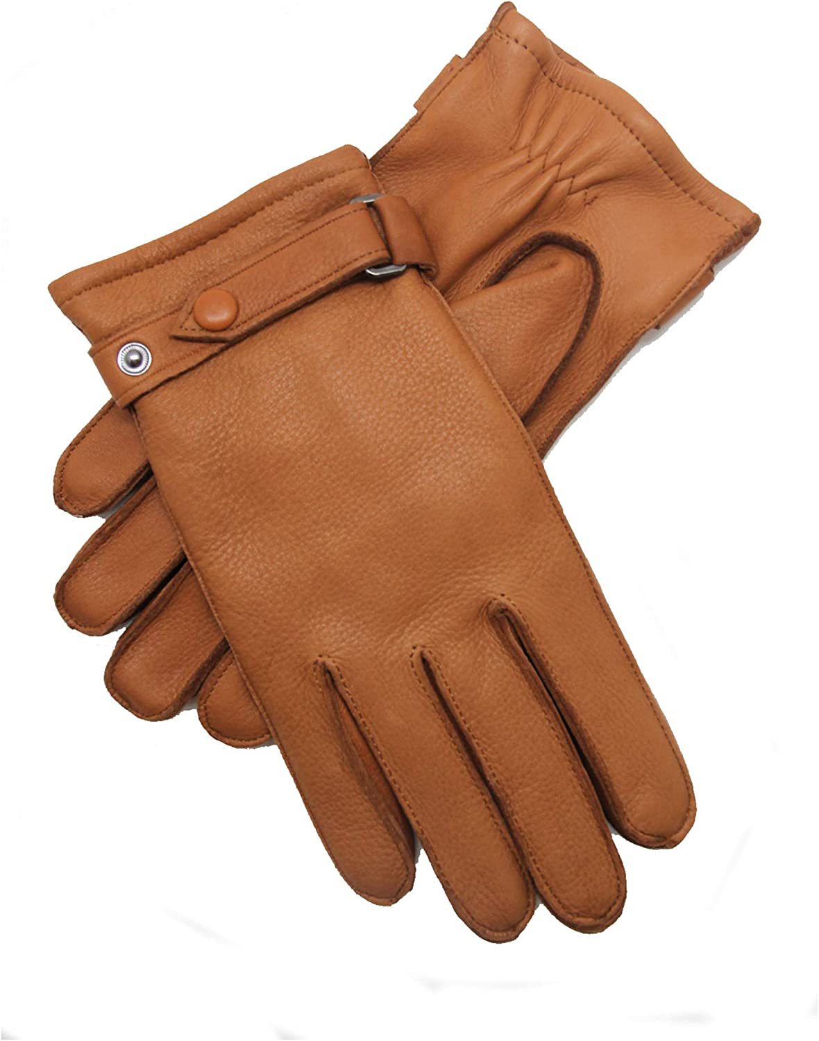 YISEVEN Mens Deerskin Leather Gloves with Classical Belt