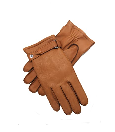 Men/'s Driving Leather Gloves Camel Brown Deerskin Leather Gloves