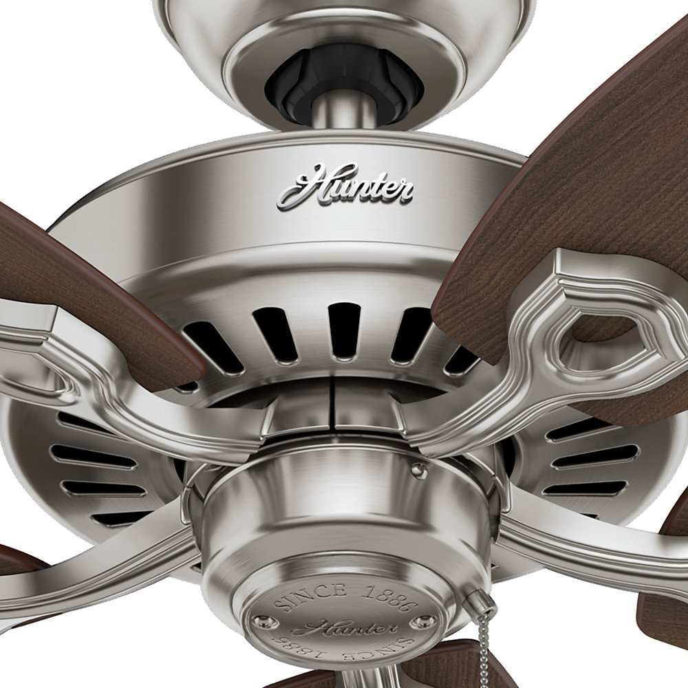 Hunter 53241 Builder Elite 52-inch Brushed Nickel Ceiling Fan with Five Brazilian Cherry/Harvest Mahogany Blades by Hunter Fan Company (Image #8)