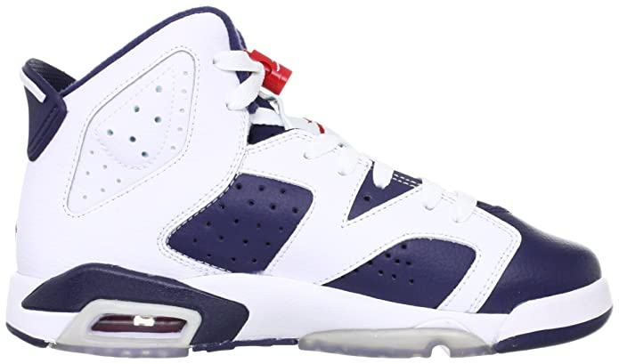 Amazon.com | Jordan Nike Air 6 VI Retro (GS) Olympic Boys Basketball Shoes  384665-130 | Basketball