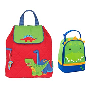 2173ccd296 Stephen Joseph Boys Quilted Dinosaur Backpack and Dinosaur Lunch Pal Combo  - Kids Backpacks  Amazon.co.uk  Sports   Outdoors