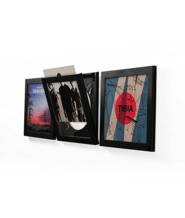 Amazon.com: SNAP Show & Listen Art Vinyl Record Display Frame, Black ...