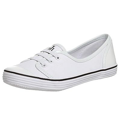 sale retailer super quality elegant shoes Lauren Ralph Lauren Estella Womens White Loafers Canvas ...