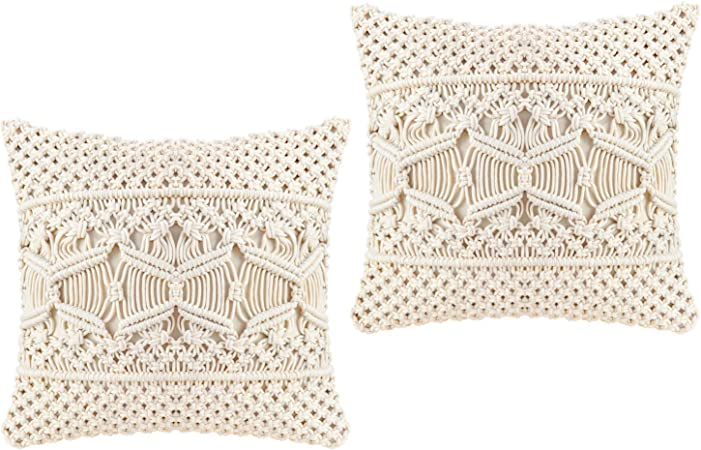 Throw Pillow Covers, Macrame Cushion