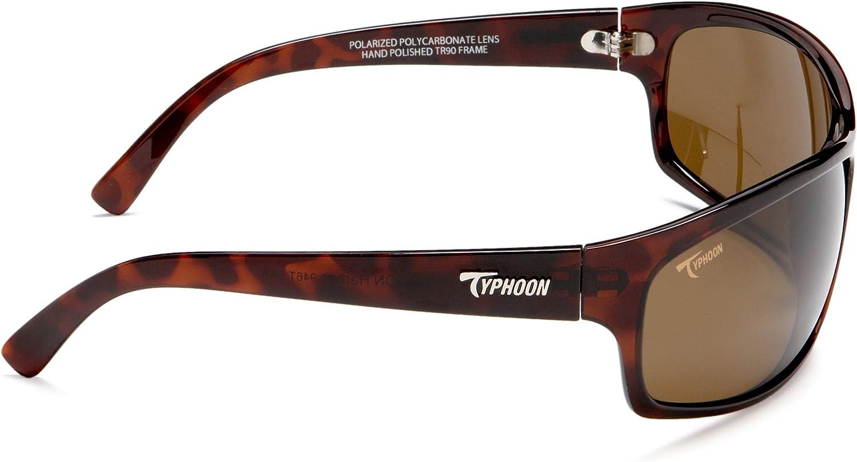 Typhoon Mens Harbor II Reader Lens Power Polarized Square Sunglasses 720 mm 15 Matte Black