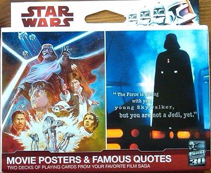 Amazon.com: star wars carteles de películas jugando a las ...