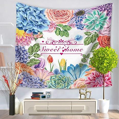 jzxjzx Tapicería Flores de Colores Frescos tapices de Playa ...