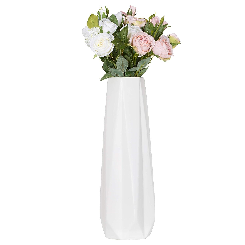 Amazon.com: Aufora Olivia Slim Flower Vase-Large, White, 16 ...