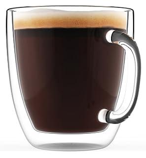 amazon com large coffee mug double wall glass 16 oz dishwasher