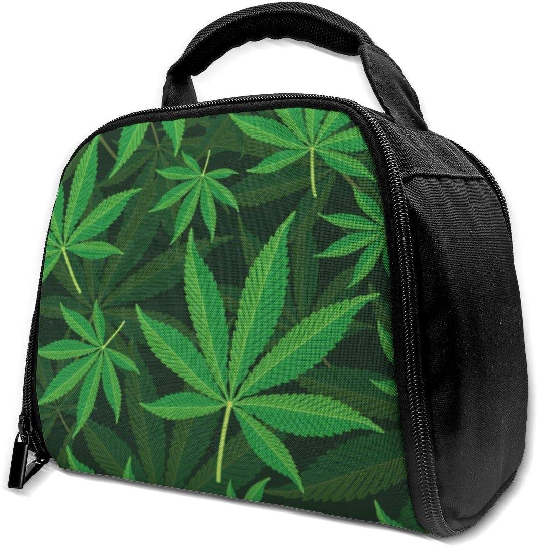 Bolsas de Almuerzo con Aislamiento Bolsas de Cannabis Potentes y Vibrantes Hojas de Marihuana Bolsas de Almuerzo Térmicas Reutilizables Bolsas de Aislamiento para el Trabajo Picnic Escolar