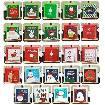 BAIVIT Tarjeta De Felicitación De Navidad 144 Unids Regalo ...