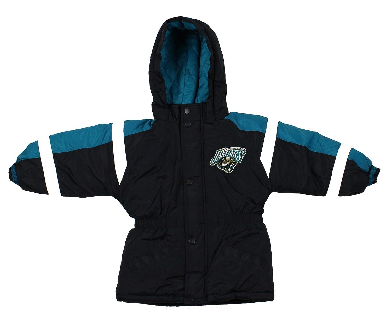 Mighty Mac Jacksonville Jaguars NFL Little Boys Toddlers Hooded Heavy Bomber Jacket, Black