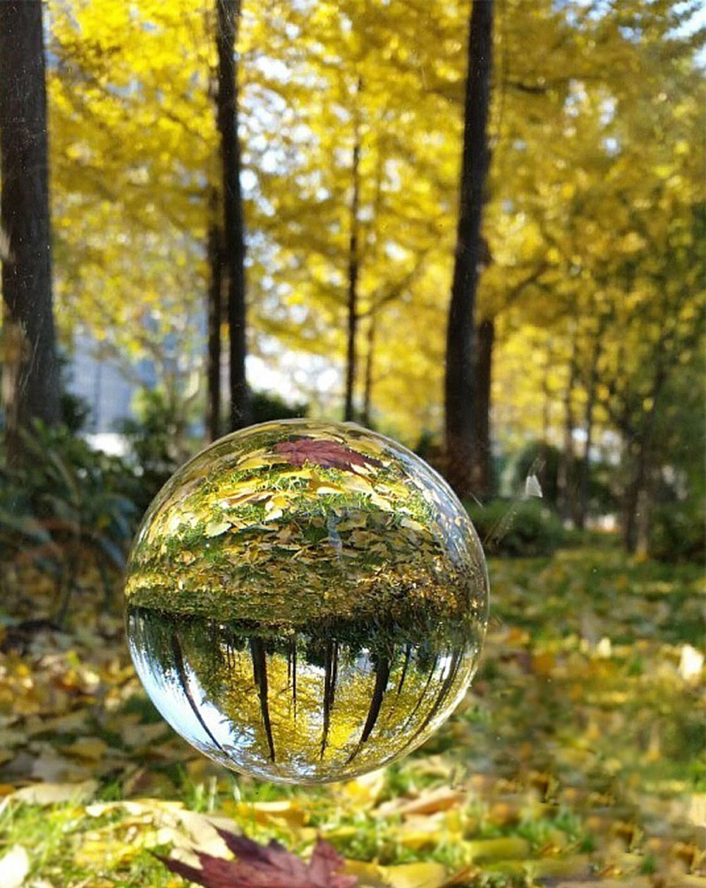 H&D Crystal Clear Crystal Ball Sphere with Crystal Stand (50mm-1)