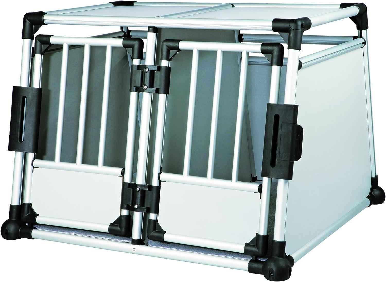 TRIXIE Transportines y Jaulas - Jaula Doble de Transporte, Aluminio, 95 × 69 × 88 cm