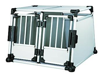 Jaula Doble de Transporte, Aluminio, 95×69×88 cm: Amazon.es ...