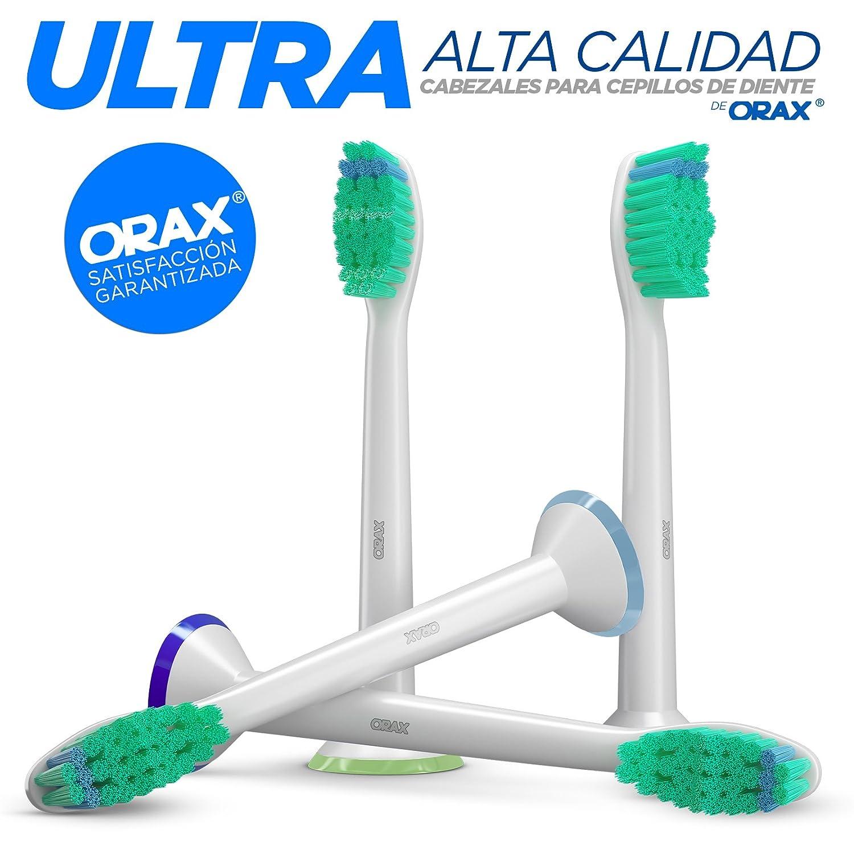 (1x4) Cabezales para cepillos compatibles con los mangos de cepillos de dientes eléctricos Philips Sonicare. Substituto para el HX6013, HX6014 y otros.