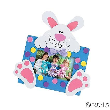 Amazon.com: Foam Bunny Photo Frame Magnet Craft Kit/toys/arts and ...