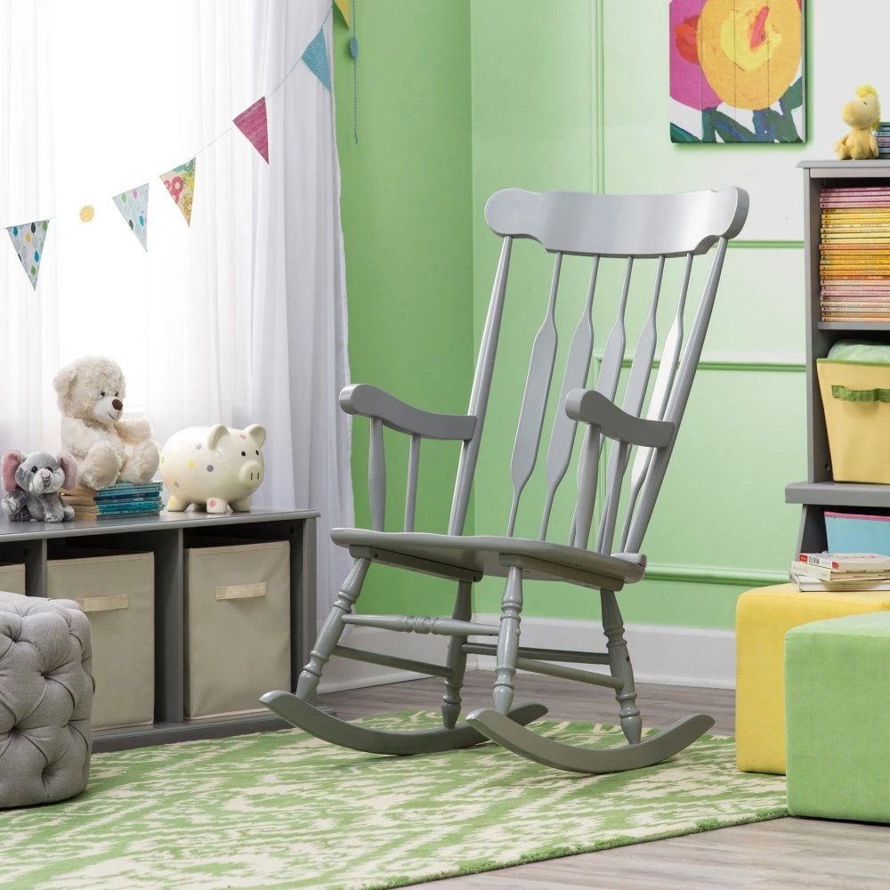 Rocking Chair for Baby Nursery - Grey by Belham Living