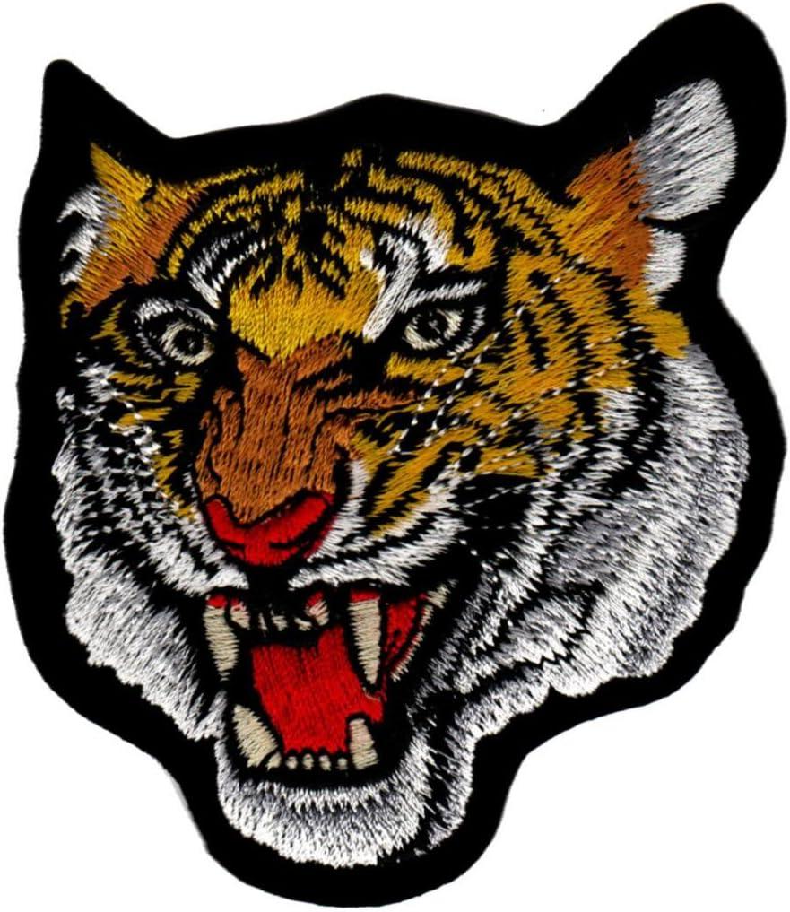 Cabeza de tigre bordado, parche para plancha: Amazon.es: Hogar