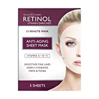 Retinol Anti-Aging Sheet Mask – Hydrating Vitamin-Enriched 15 Minute Treatment With...