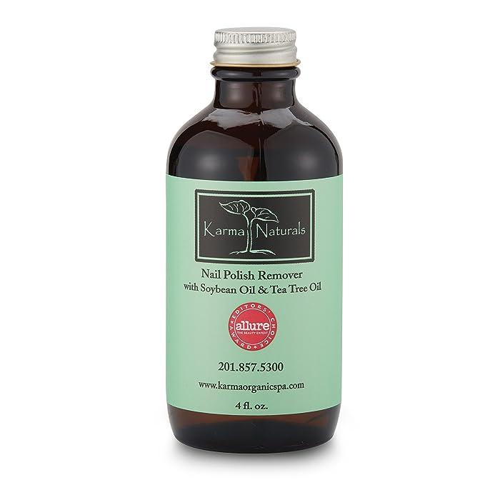 Karma Naturals Nail Polish Remover with Soybean Oil & Tea Tree Oil ...