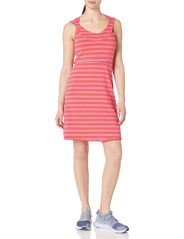 Marc New York Performance Womens Hooded Thick Thin Stripe Dress W//Shelf Bra