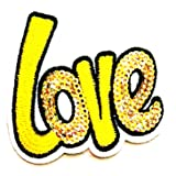 Nipitshop Patches Beautiful Yellow Love Funny Words