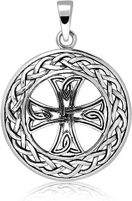 Trisk/èle Celtique Runes Pendentif en argent 925