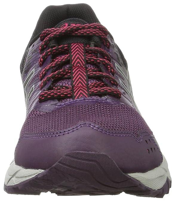 Asics Gel-Sonoma 3, Chaussures de Trail Femme, Multicolore (Black/Baton Rouge/Black 9032), 39.5 EU