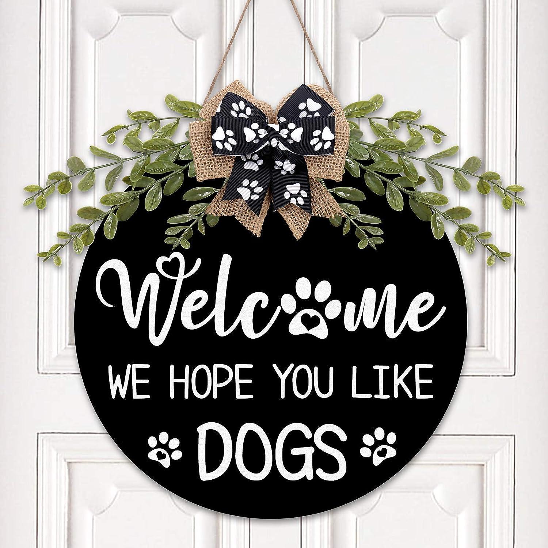 Funny Dog Sign for Home Bone Door Hanger Dog Lovers Sign Funny Dog Door Sign