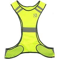 BININBOX Chaleco de seguridad de alta visibilidad con bandas reflectantes para Running Ciclismo caminando motocicleta en bicicleta transpirable hombres mujeres