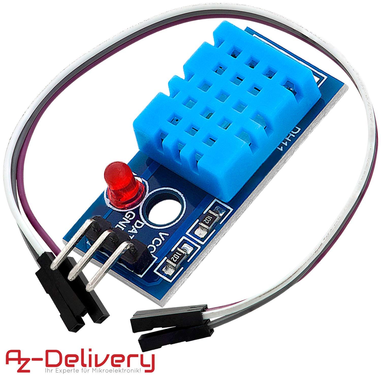 AZDelivery DHT 22 AM2302 Capteur de temp/érature et dhumidit/é pour Arduino et Raspberry Pi 3X DHT 11 mit Kabel