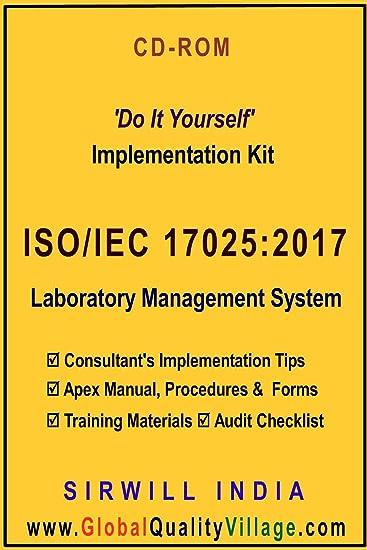 amazon com iso iec 17025 2017 lab ms implementation kit manual