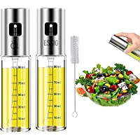 Olive Oil Sprayer Bottle Oil Dispenser with Scale - Oil Vinegar Spritzer with Oil Spray Bottle Brush, for Salad BBQ…