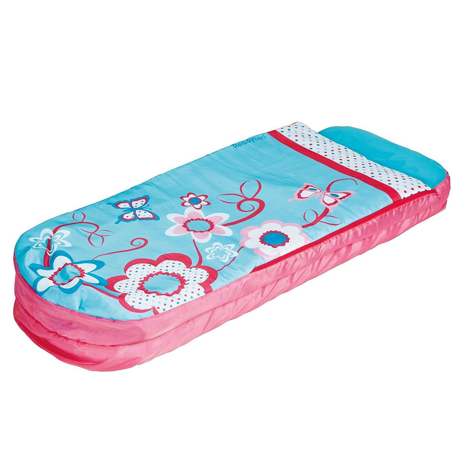 Worlds Apart Flowers Girls Junior ReadyBed - Kids Airbed and Sleeping Bag in one