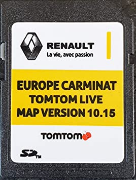 carte sd tomtom renault scenic 3 SD Card GPS Europe 2019 10.15   Renault Tomtom Live: Amazon.co.uk