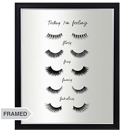 Makeup Lover Eyelashes Poster - FRAMED Mood Wall Art Print, Unique Artwork Gift Idea for