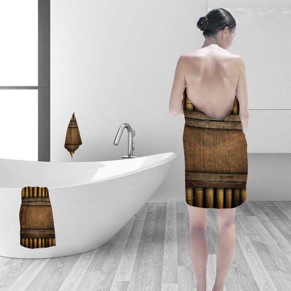 Nalahomeqq Hand towel set wood board bamboo frame personality printPolyesternon-mildewpattern custom made19.7''x19.7''-13.8''x27.6''-31.5''x63''