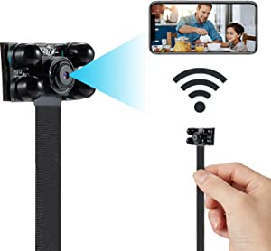 Spy Camera Wireless Hidden Camera WiFi Camera, 4K HD DIY Mini Camera Home Security Camera Small Camera Nanny Cam with Night Vision / Motion Detection / Remotely View, APP Supports Android/iOS