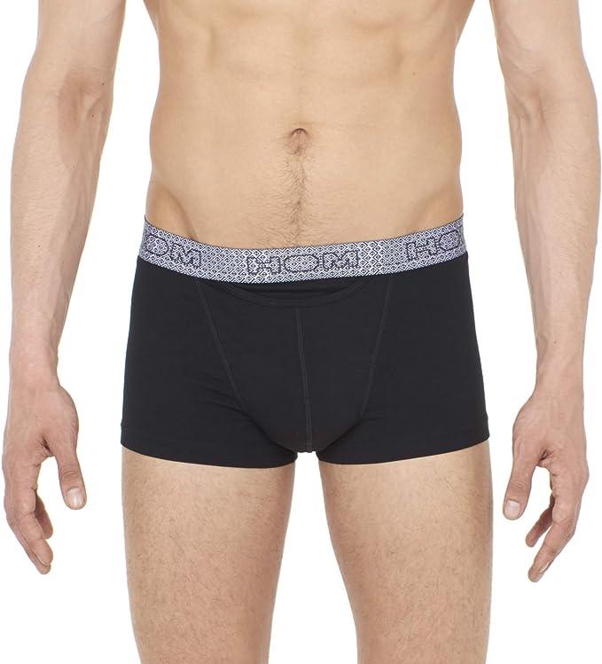 HOM - Hombre - Boxer Briefs HO1 Kuda - Pack de 2 Calzoncillos Modernos - Black/Black & White - Tamaño S: Amazon.es: Ropa y accesorios