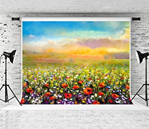 Kate 7x5ft Floral Photography Backdrop Spring Portrait Background Oil Painting Texture Photo Backdrop
