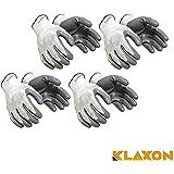 Klaxon Safety Nylon Anti Cut Hand Gloves (4 Pair)