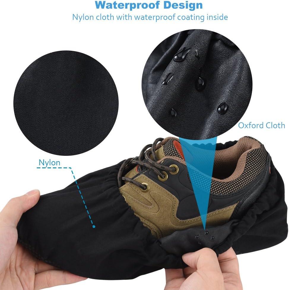 Couvre Chaussures R/ésistant pour Garder le Sol Propre Soumit 3 paires Couvre-Chaussures Poussi/ère pour Maison M Surchaussures R/éutilisable pour Bureau et Atelier EU 37-43